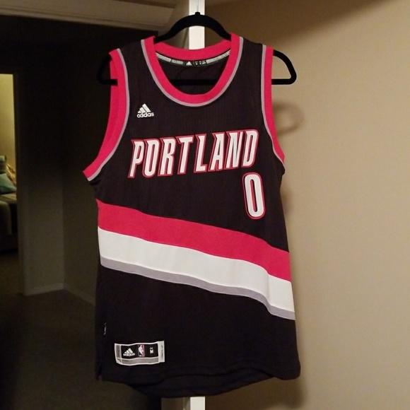 hot sale online 07877 08219 Portland trail blazers Damian lillard jersey